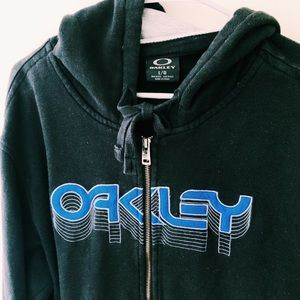 Men's Oakley hooded zip-up sweatshirt